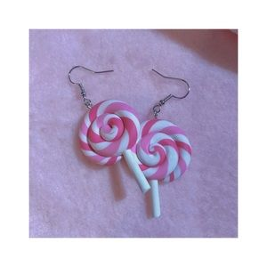 ˚ˑؘ🍥 ·˚ pink lollipop earrings ˚ˑؘ🍥 ·˚
